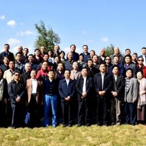潍坊军旅书画院举行花海四季书画写生创作基地建立仪式